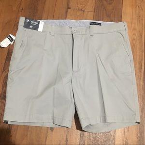 Cremieux Soho Grey Slim Fit Flat Front Golf Shorts